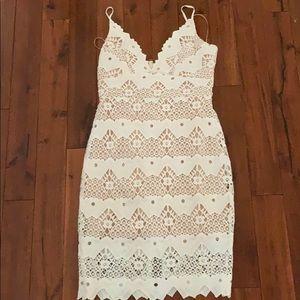 Lulus white lace dress!